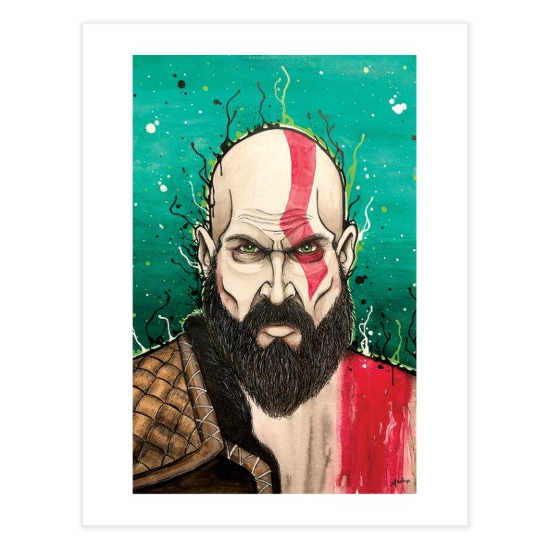 Kratos Home Fine Art Print by EvoComicsInc's Artist Shop
