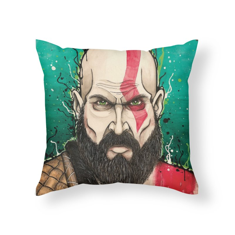 Kratos Home Throw Pillow by EvoComicsInc's Artist Shop