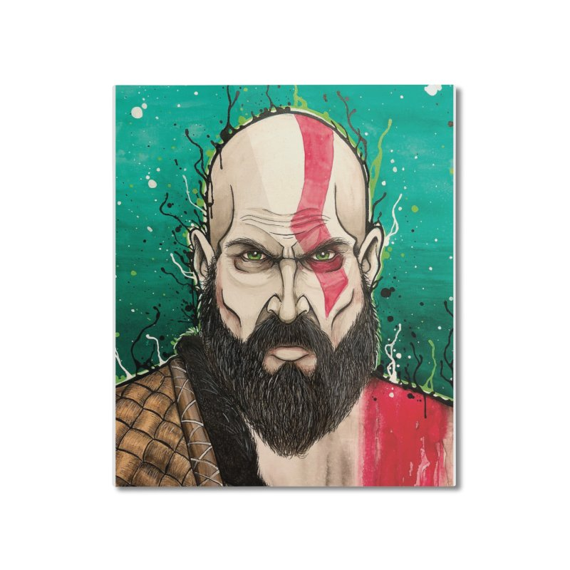 Kratos Home Mounted Aluminum Print by EvoComicsInc's Artist Shop