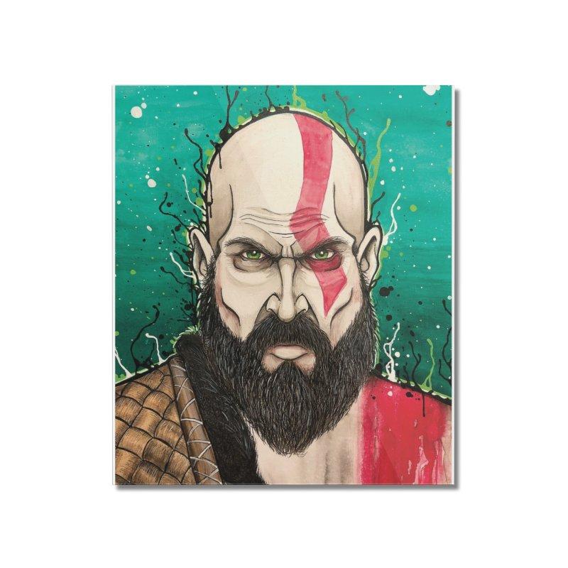 Kratos Home Mounted Acrylic Print by EvoComicsInc's Artist Shop