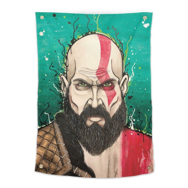 Kratos Home Tapestry by EvoComicsInc's Artist Shop