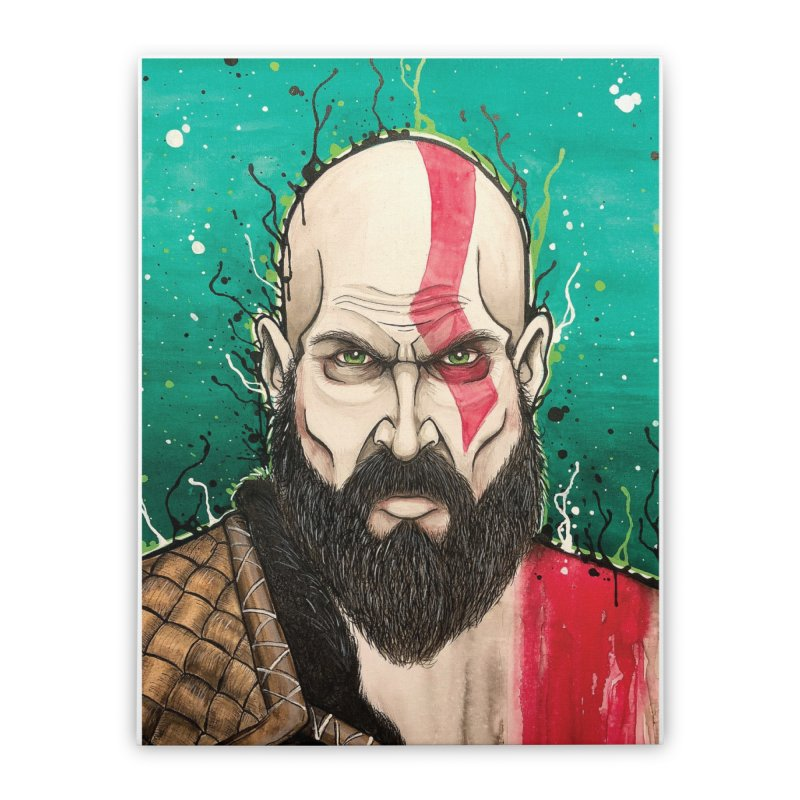 Kratos Home Stretched Canvas by EvoComicsInc's Artist Shop