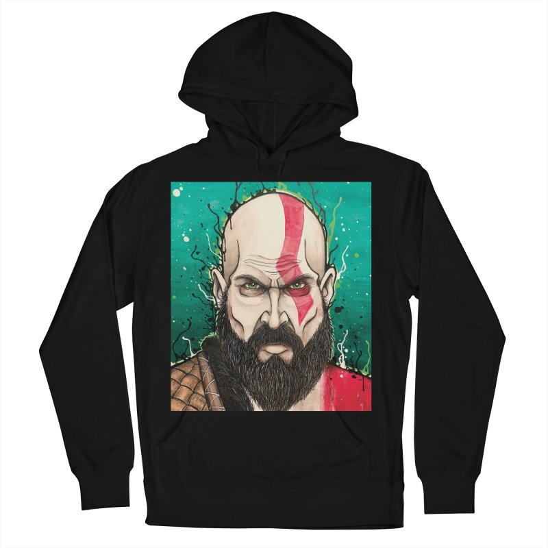 Kratos Men's French Terry Pullover Hoody by EvoComicsInc's Artist Shop
