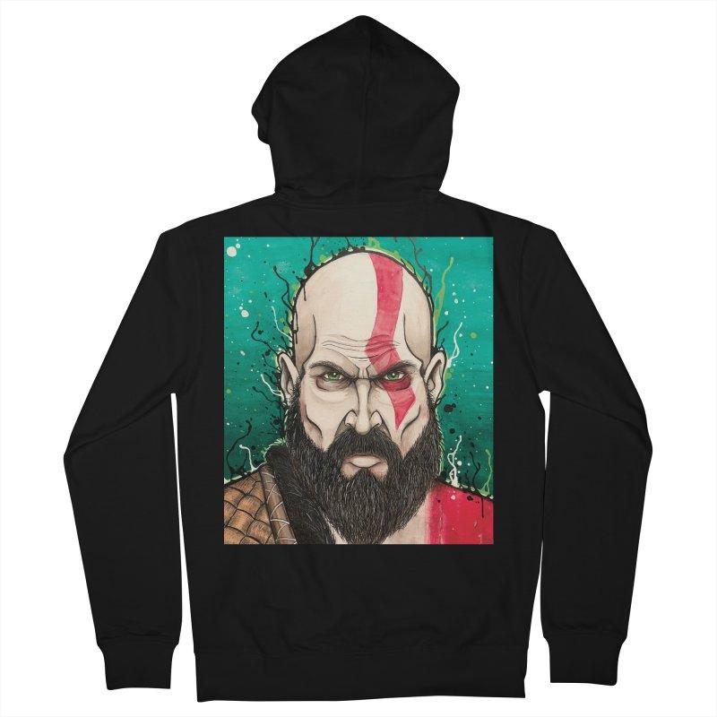 Kratos Men's French Terry Zip-Up Hoody by EvoComicsInc's Artist Shop