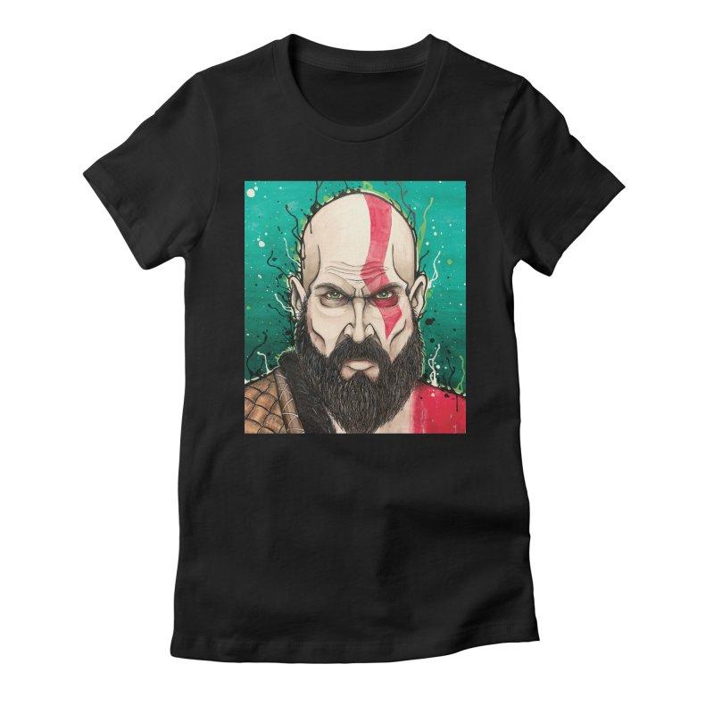 Kratos Women's Fitted T-Shirt by EvoComicsInc's Artist Shop