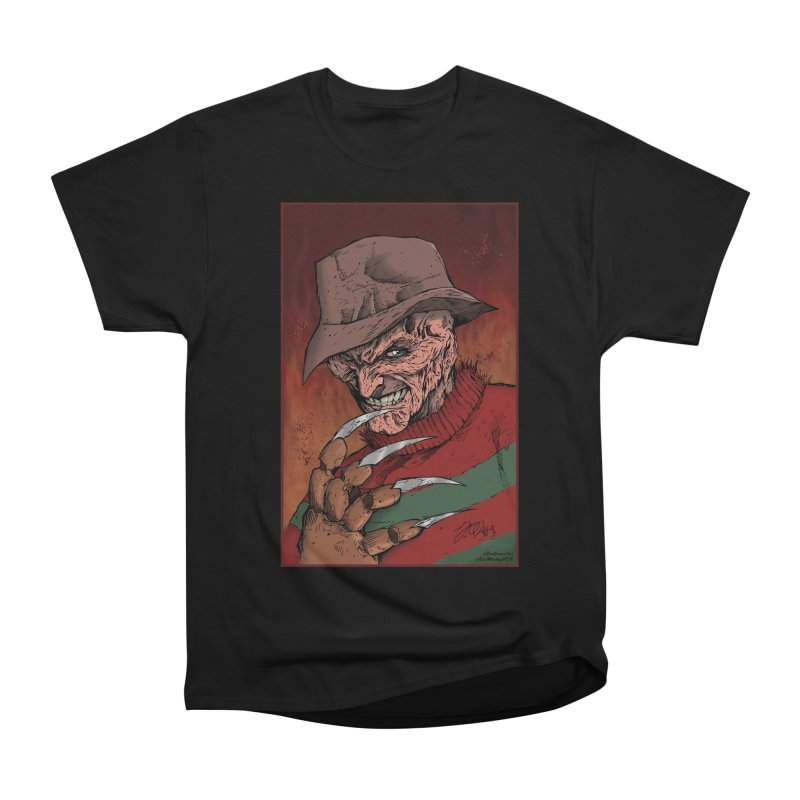 Freddy Krueger Women's Heavyweight Unisex T-Shirt by EvoComicsInc's Artist Shop