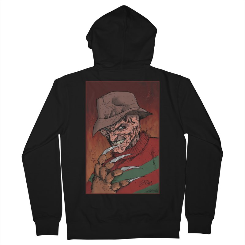 Freddy Krueger Men's French Terry Zip-Up Hoody by EvoComicsInc's Artist Shop