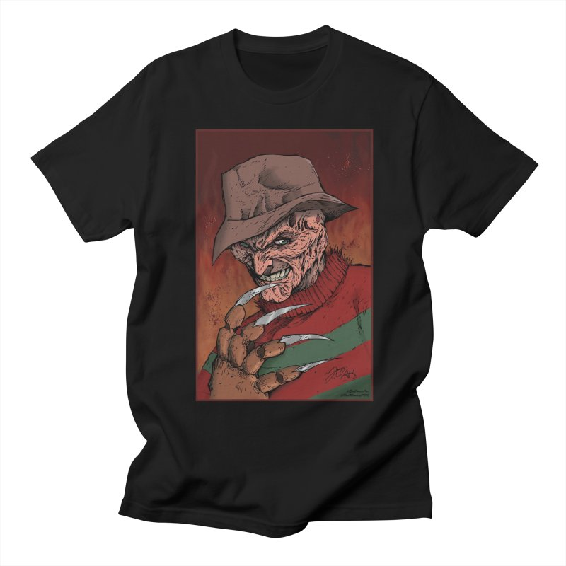 Freddy Krueger Men's T-Shirt by Evolution Comics INC