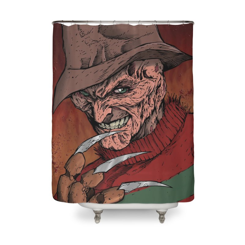 Freddy Krueger Home Shower Curtain by EvoComicsInc's Artist Shop