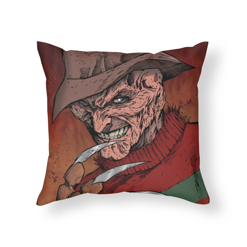 Freddy Krueger Home Throw Pillow by EvoComicsInc's Artist Shop