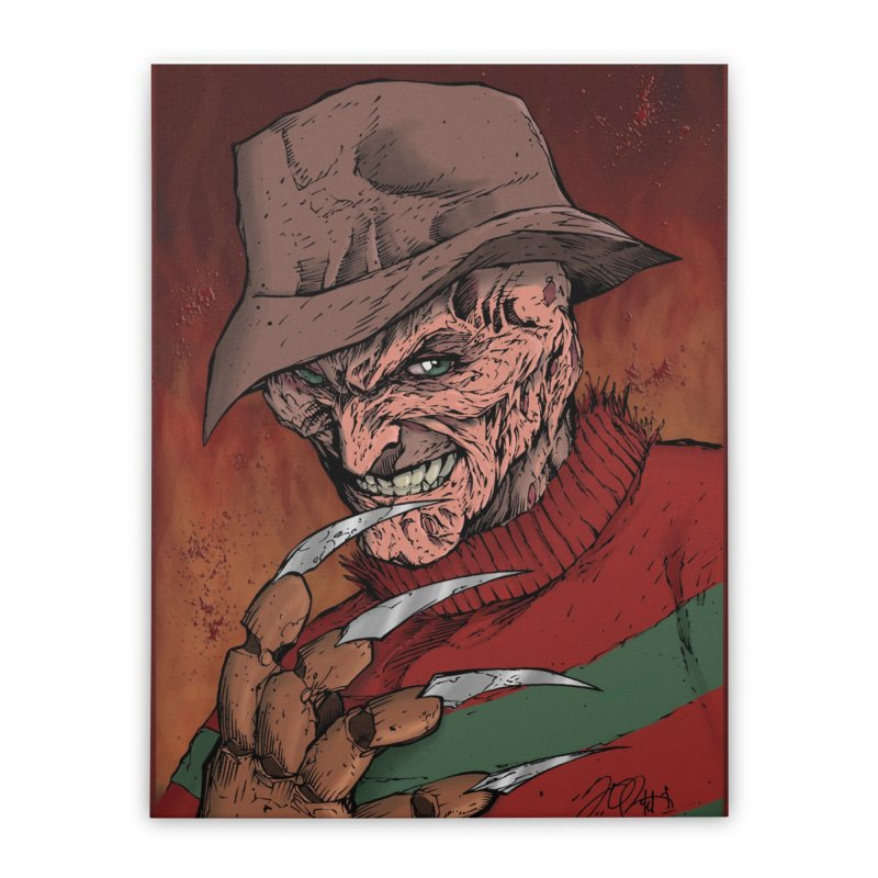 Freddy Krueger Home Stretched Canvas by EvoComicsInc's Artist Shop