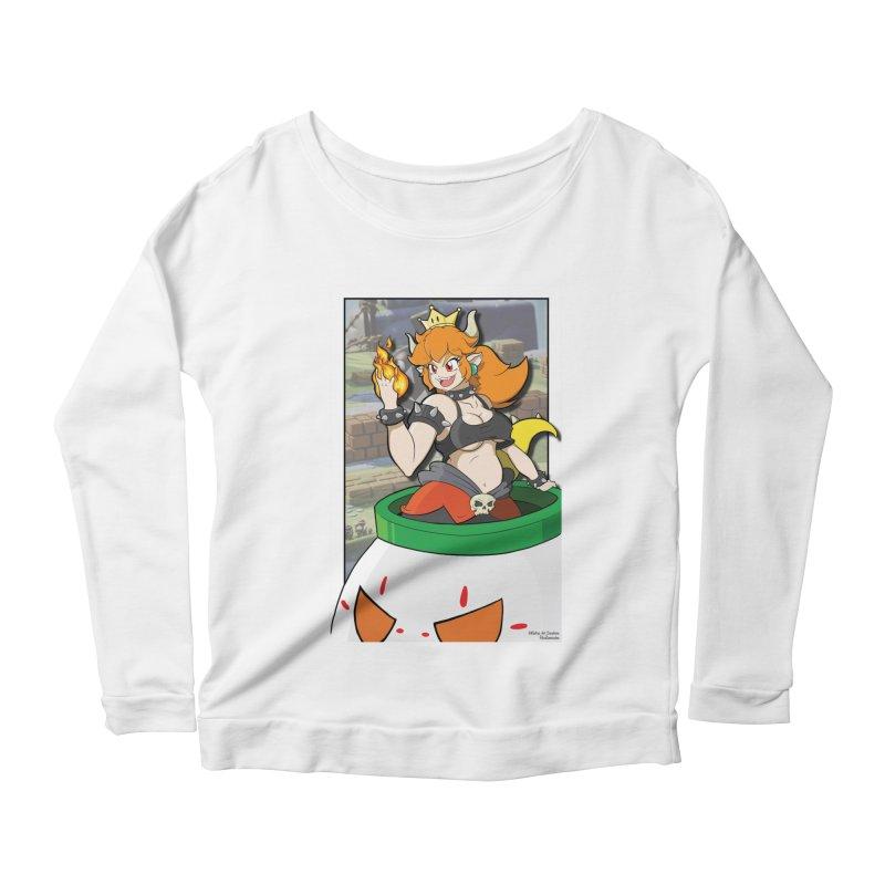 Bowsette Women's Scoop Neck Longsleeve T-Shirt by EvoComicsInc's Artist Shop