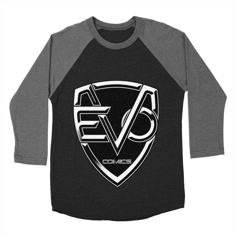 Evo Solid Logo Women's Baseball Triblend Longsleeve T-Shirt by Evolution Comics INC