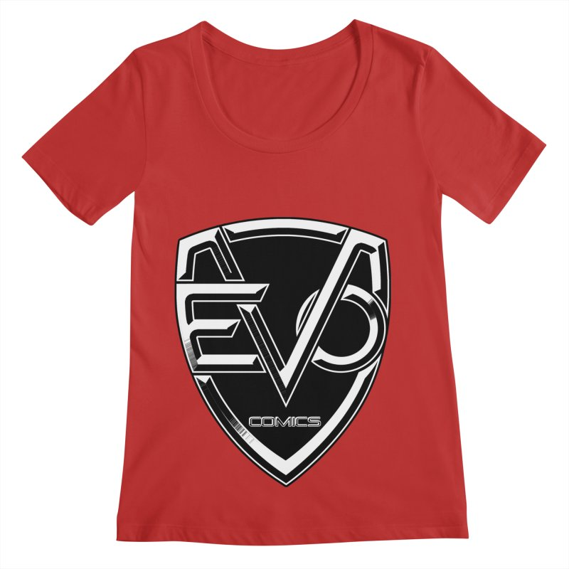 Evo Solid Logo Women's Regular Scoop Neck by Evolution Comics INC