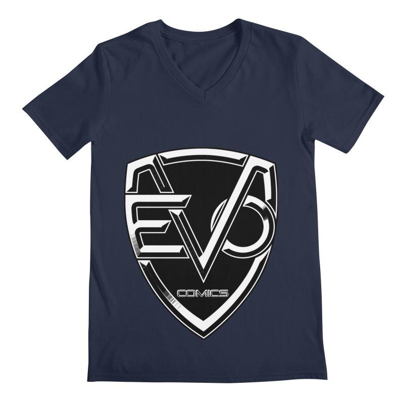 Evo Solid Logo Men's Regular V-Neck by EvoComicsInc's Artist Shop