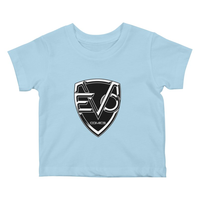 Evo Solid Logo Kids Baby T-Shirt by EvoComicsInc's Artist Shop