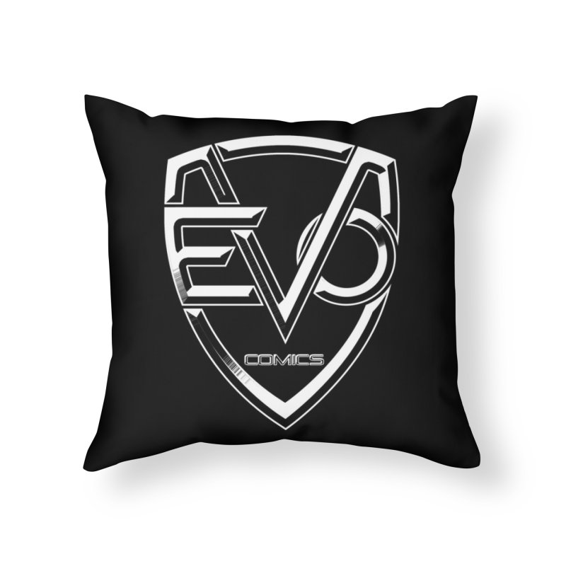 Evo Solid Logo Home Throw Pillow by EvoComicsInc's Artist Shop