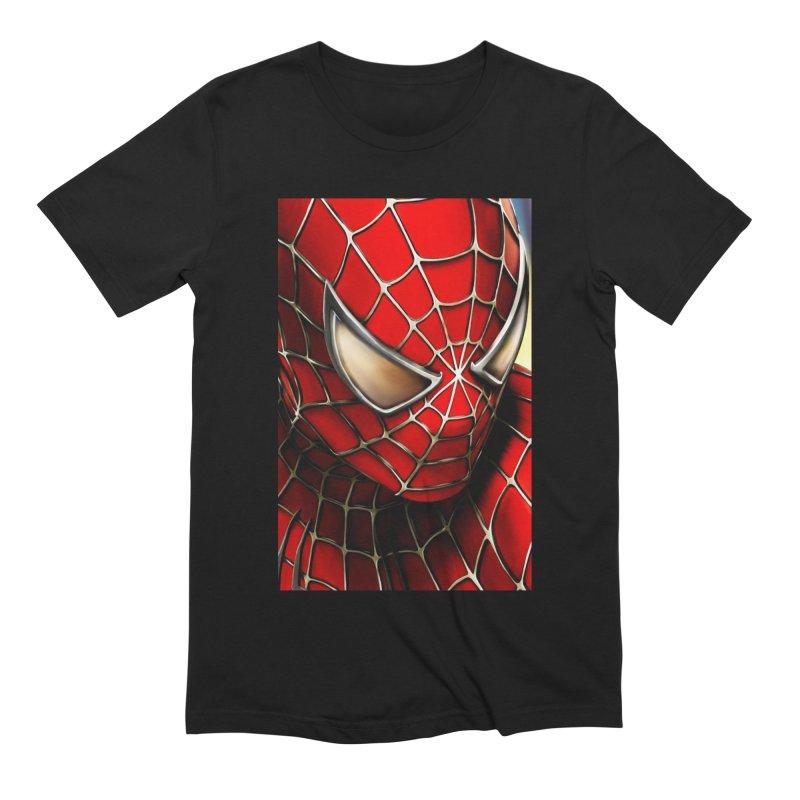 Spiderman Movie Poster Men's Extra Soft T-Shirt by EvoComicsInc's Artist Shop