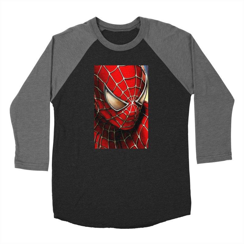 Spiderman Movie Poster Women's Baseball Triblend Longsleeve T-Shirt by Evolution Comics INC