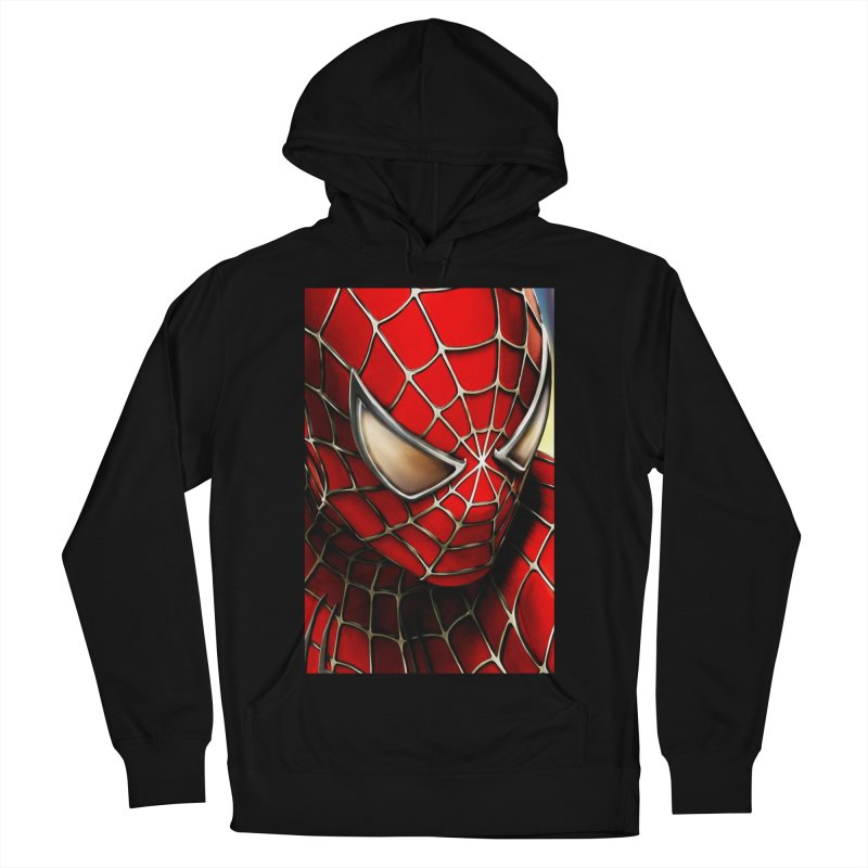 Spiderman Movie Poster Women's French Terry Pullover Hoody by EvoComicsInc's Artist Shop