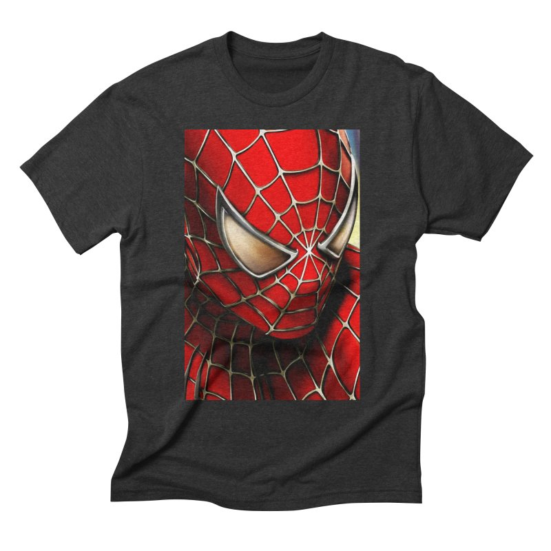 Spiderman Movie Poster Men's Triblend T-Shirt by EvoComicsInc's Artist Shop