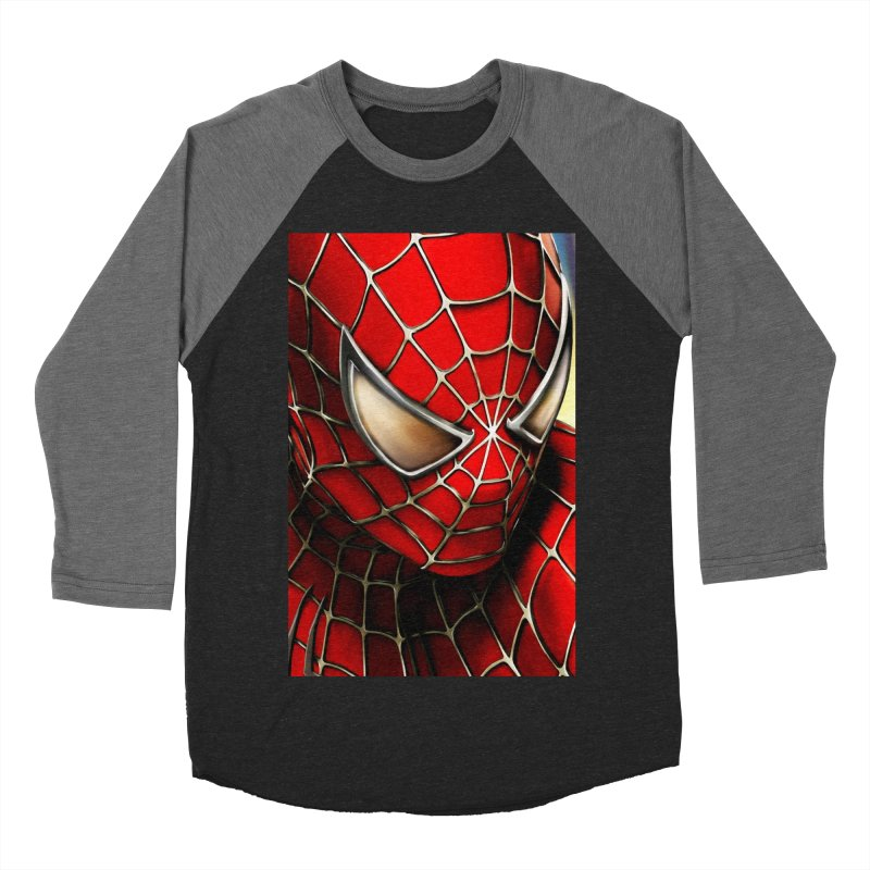 Spiderman Movie Poster Men's Baseball Triblend Longsleeve T-Shirt by EvoComicsInc's Artist Shop