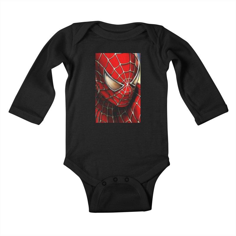 Spiderman Movie Poster Kids Baby Longsleeve Bodysuit by EvoComicsInc's Artist Shop