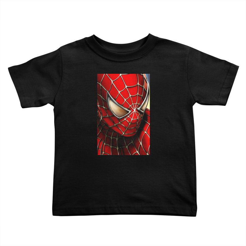 Spiderman Movie Poster Kids Toddler T-Shirt by Evolution Comics INC