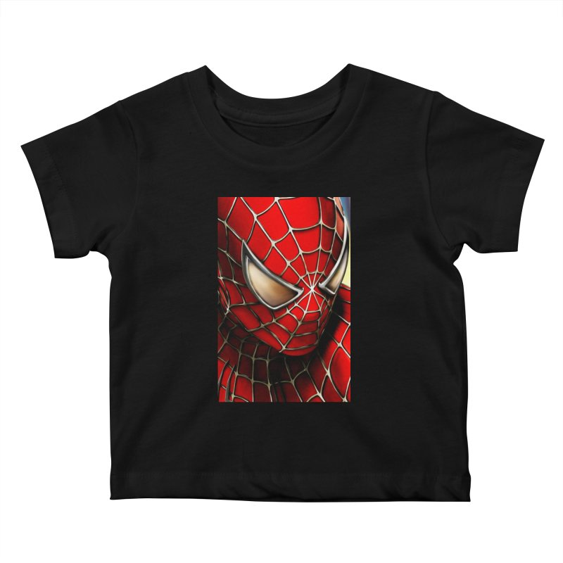 Spiderman Movie Poster Kids Baby T-Shirt by Evolution Comics INC