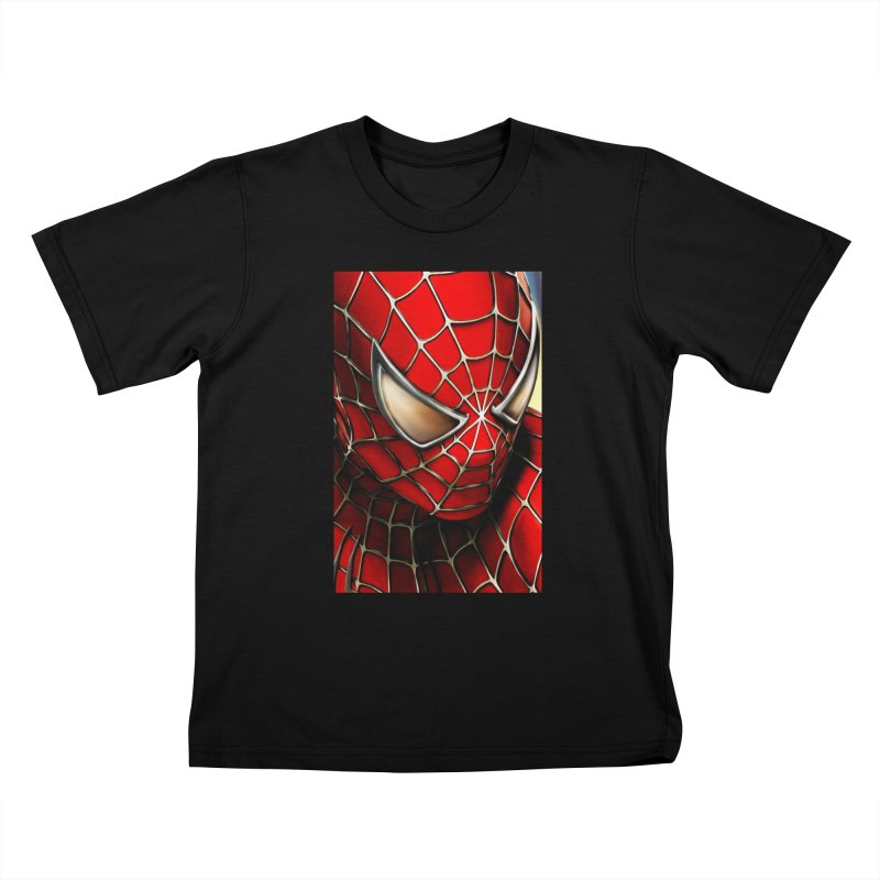 Spiderman Movie Poster Kids T-Shirt by Evolution Comics INC