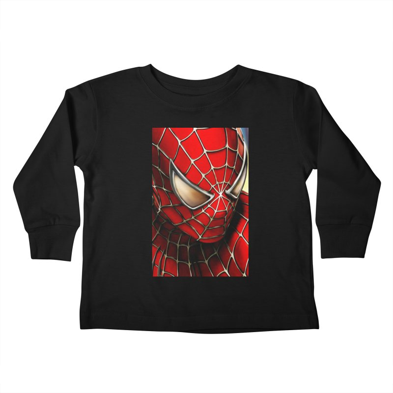 Spiderman Movie Poster Kids Toddler Longsleeve T-Shirt by Evolution Comics INC