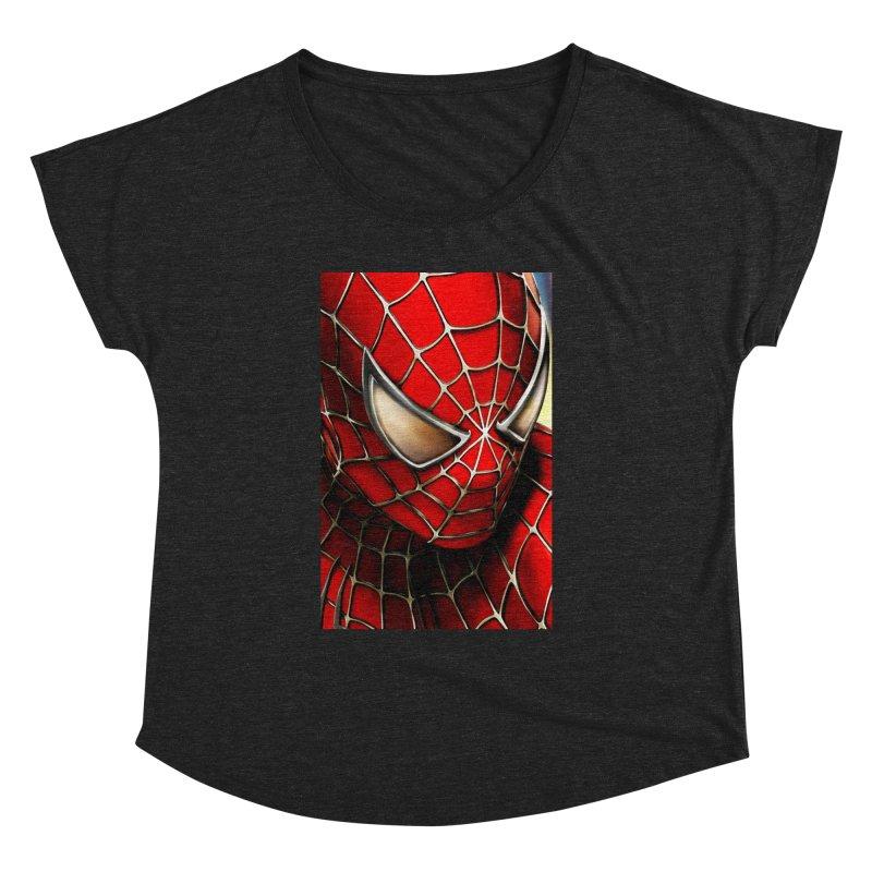 Spiderman Movie Poster Women's Dolman Scoop Neck by EvoComicsInc's Artist Shop