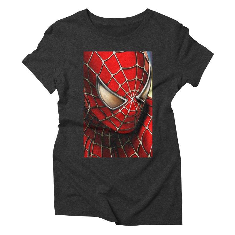 Spiderman Movie Poster Women's Triblend T-Shirt by EvoComicsInc's Artist Shop
