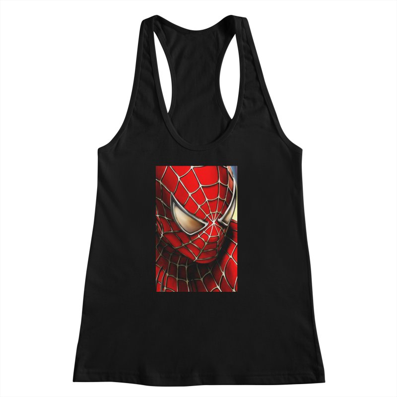 Spiderman Movie Poster Women's Racerback Tank by EvoComicsInc's Artist Shop