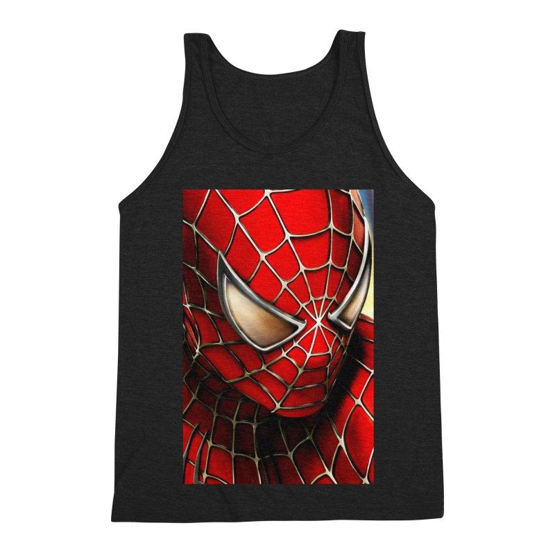 Spiderman Movie Poster Men's Triblend Tank by Evolution Comics INC