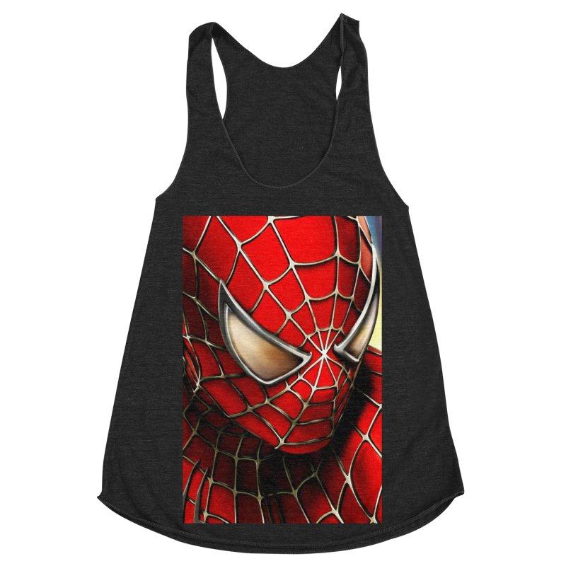 Spiderman Movie Poster Women's Racerback Triblend Tank by Evolution Comics INC