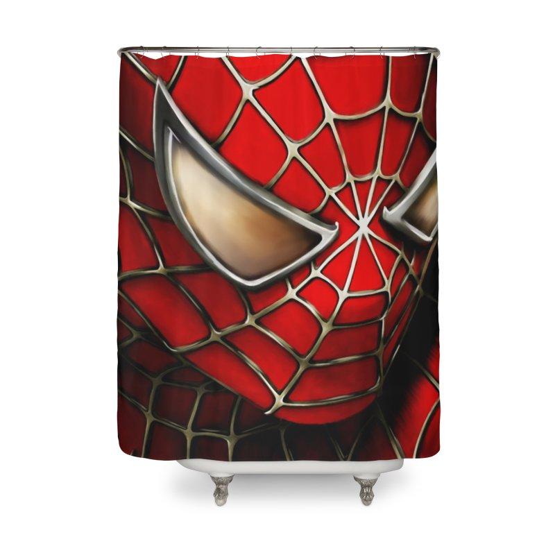 Spiderman Movie Poster Home Shower Curtain by EvoComicsInc's Artist Shop
