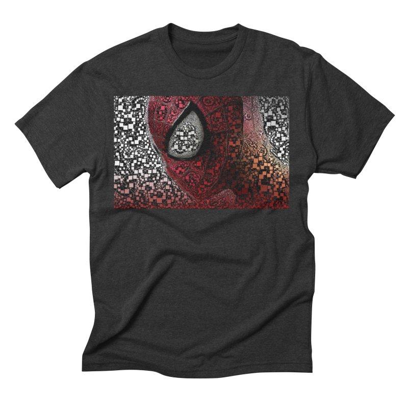 Spiderman Abstract Men's Triblend T-Shirt by EvoComicsInc's Artist Shop