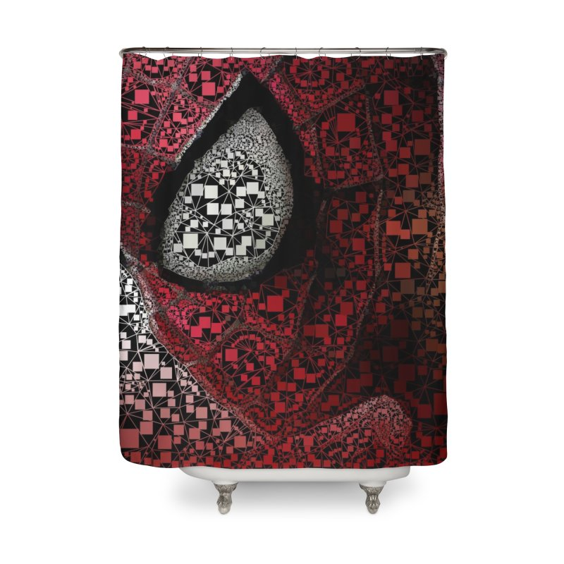 Spiderman Abstract Home Shower Curtain by EvoComicsInc's Artist Shop