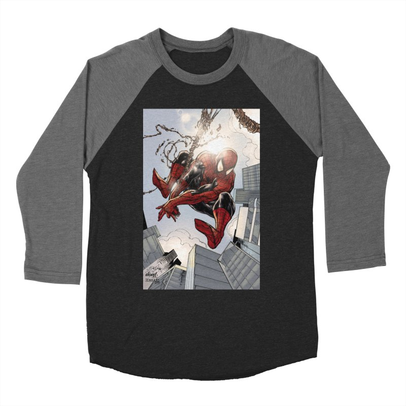 Spiderman Web Swinging Women's Longsleeve T-Shirt by Evolution Comics INC