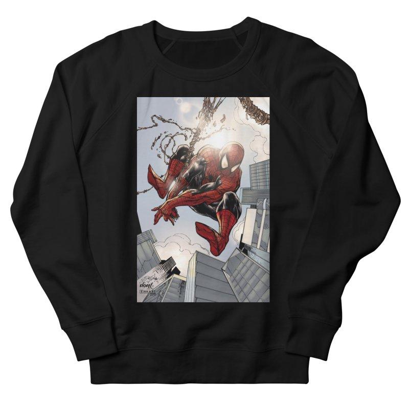 Spiderman Web Swinging Men's French Terry Sweatshirt by EvoComicsInc's Artist Shop