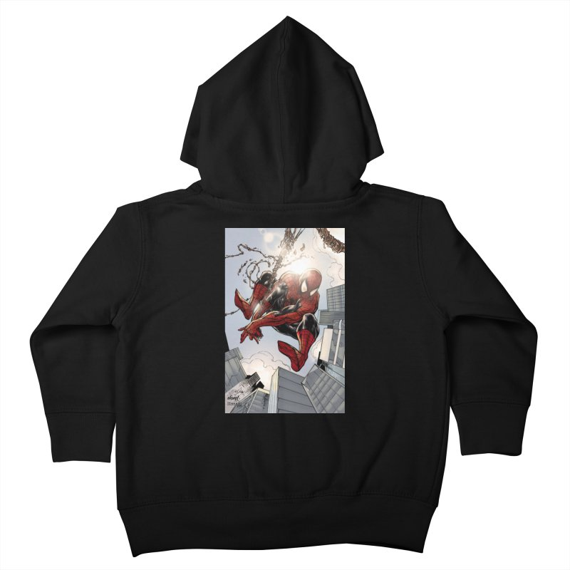 Spiderman Web Swinging Kids Toddler Zip-Up Hoody by Evolution Comics INC