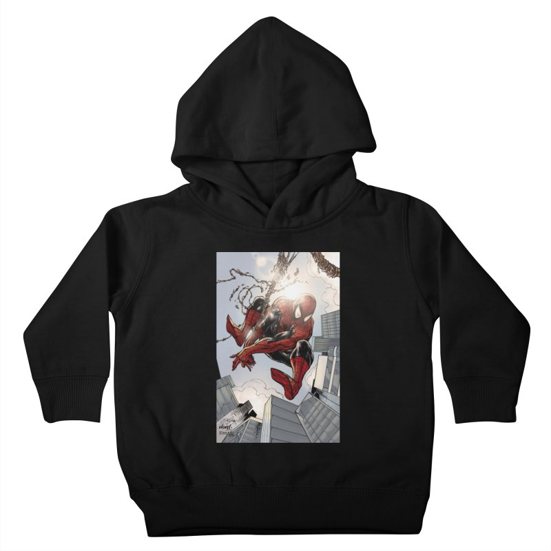 Spiderman Web Swinging Kids Toddler Pullover Hoody by Evolution Comics INC