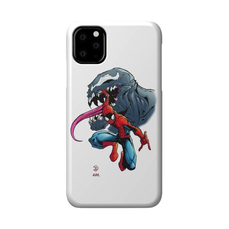 Spiderman w/Venom Accessories Phone Case by Evolution Comics INC