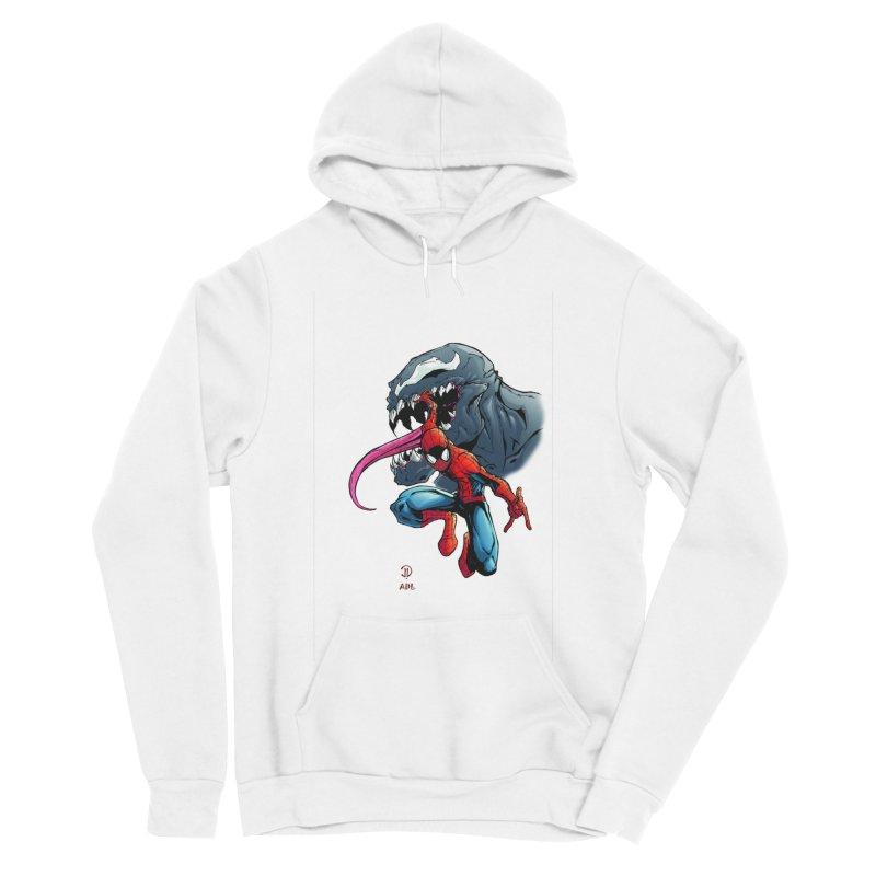 Spiderman w/Venom Women's Sponge Fleece Pullover Hoody by EvoComicsInc's Artist Shop