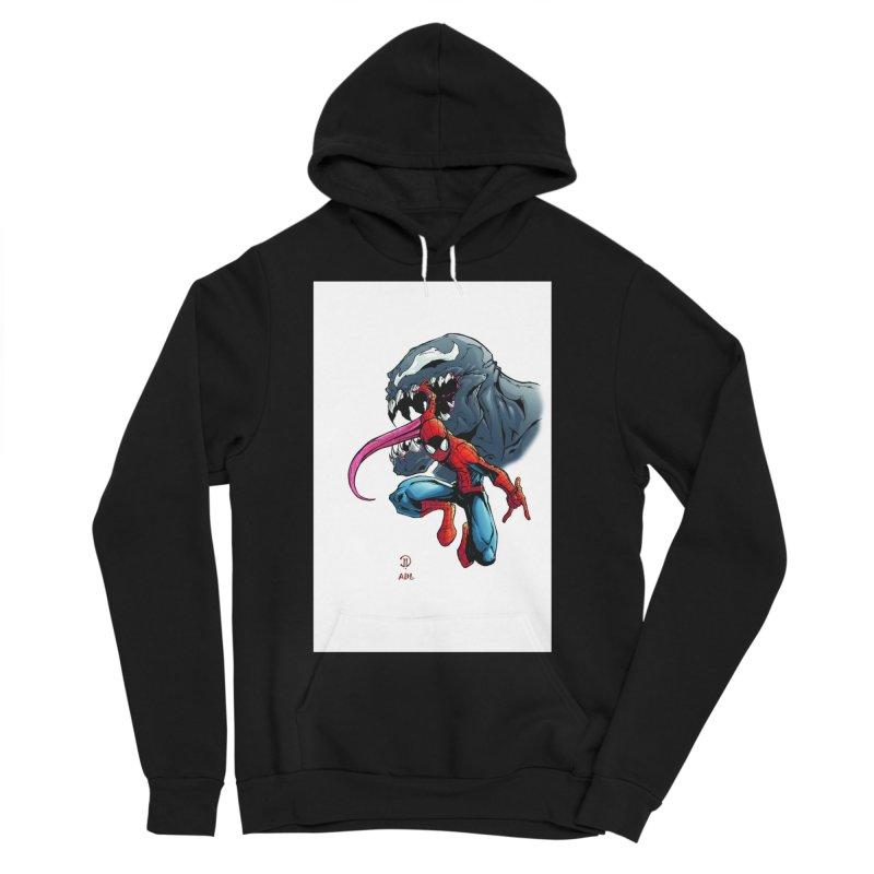 Spiderman w/Venom Men's Sponge Fleece Pullover Hoody by EvoComicsInc's Artist Shop