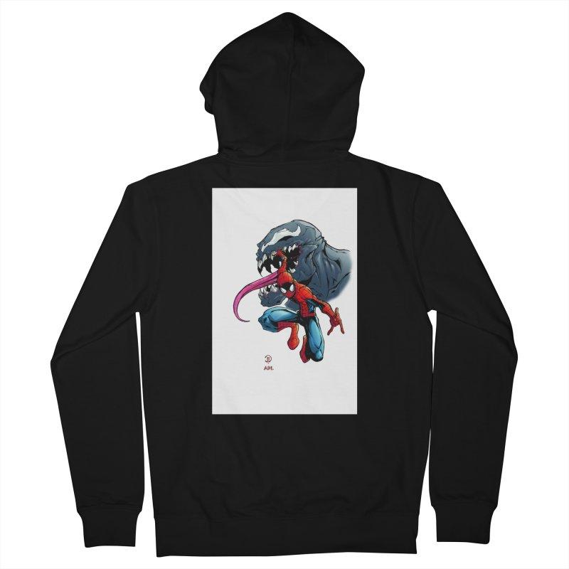 Spiderman w/Venom Men's Zip-Up Hoody by Evolution Comics INC