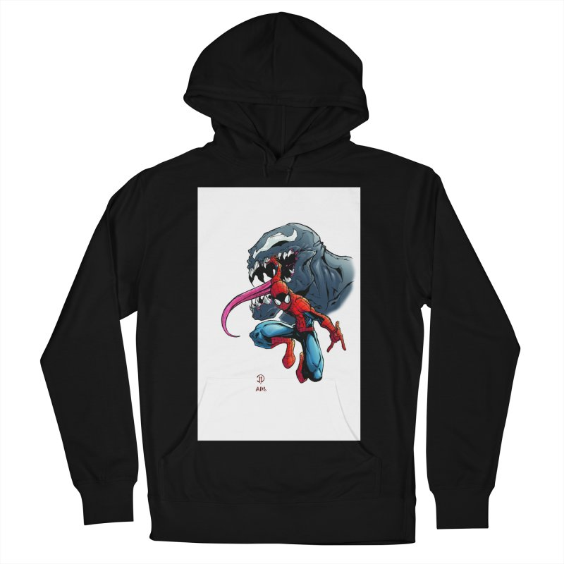 Spiderman w/Venom Men's French Terry Pullover Hoody by EvoComicsInc's Artist Shop