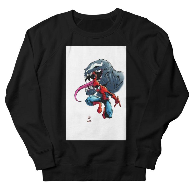 Spiderman w/Venom Men's French Terry Sweatshirt by EvoComicsInc's Artist Shop