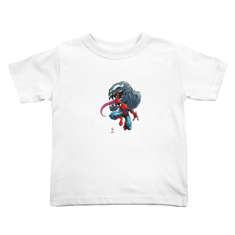 Spiderman w/Venom Kids Toddler T-Shirt by Evolution Comics INC